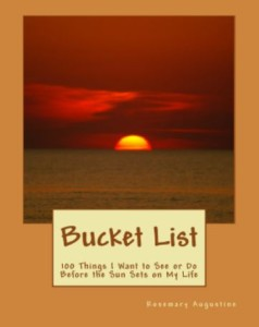 Bucket List. Front Cover. with SUNSET.Proof